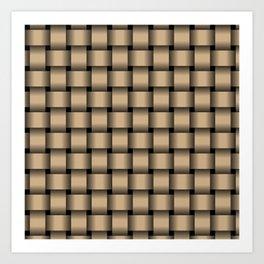Tan Brown Weave Art Print