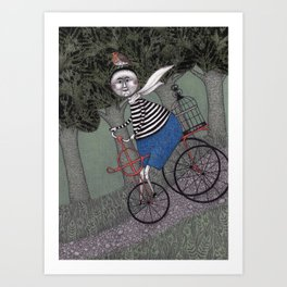 A Day for a Ride in the Park Art Print
