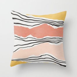 Modern irregular Stripes 01 Throw Pillow