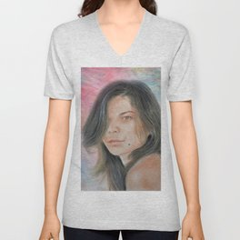 Beautiful and Sexy Actress Jeananne Goossen IV Altered Version Unisex V-Neck