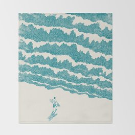 To the sea Throw Blanket