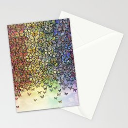 rainbow of butterflies aflutter Stationery Cards