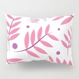 Pink Leaves Big Pillow Sham