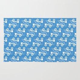 Roller Skate Pattern (Blue) Rug