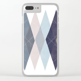 Not Your Father's Argyle Clear iPhone Case