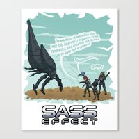 mass effect Canvas Prints featuring Mass Effect - Sass Effect by calicoJill