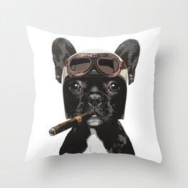 French bulldog Patrol Throw Pillow