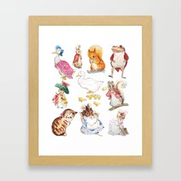 Tales of Peter Rabbit  characters Beatrix Potter 2 farm animals Framed Art Print