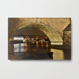 Under the Charles Bridge Metal Print