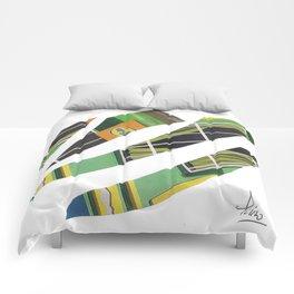 Collage green multicolor 5409 Comforters