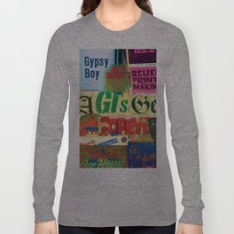 A collection of Grunge titles Long Sleeve T-shirt