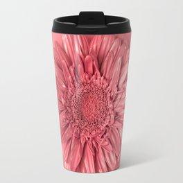 Pink daisy flower on pink background Travel Mug