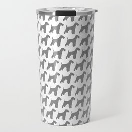 Airedale Terrier Silhouette(s) Travel Mug