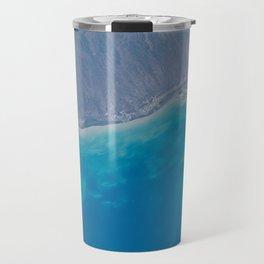 Pacific Ocean, California, Nature, Malibu, Los Angeles, Costline, Satellite, Landscape Travel Mug