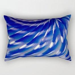 Shelled Blue Rectangular Pillow