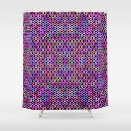 Fruity loop multicolor sprockets Shower Curtain