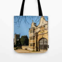 Cotswold Gatehouse & Church. Tote Bag