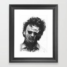 Leatherface Framed Art Print