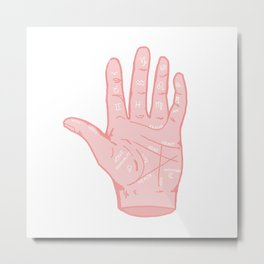 Palm Reader's Guide Metal Print