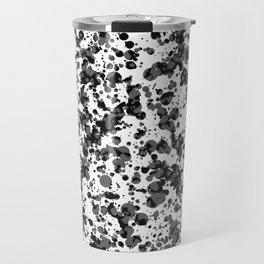 black splatter Travel Mug