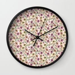Painted Floral Wall Clock