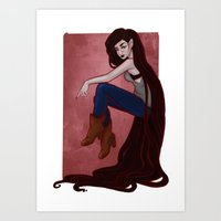 marceline Art Prints featuring Marceline by Persefone