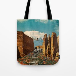 Ride Through Poppy Valley Tote Bag