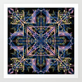 Forget Me Knot from the Tech Nectar Series Art Print