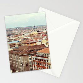 Madrid // The View from the Roof of Hotel Praktik Metropol Stationery Cards