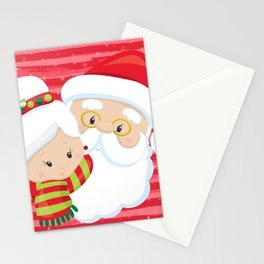 Santa and Mrs Claus Stationery Cards
