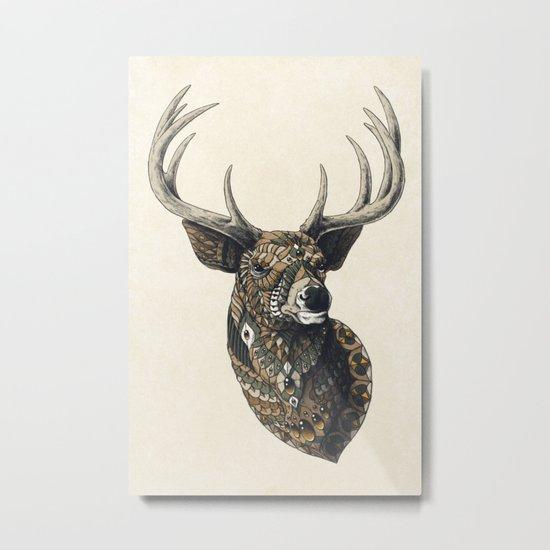 White-Tailed Deer (Color Version) Metal Print