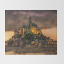Le Mont Saint-Michel  Throw Blanket
