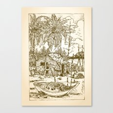 Malay Fishing Village Canvas Print