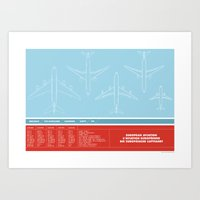 aviation Art Prints featuring European Aviation by Marc
