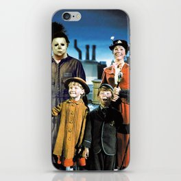 Michael Myers in Mary Poppins iPhone Skin