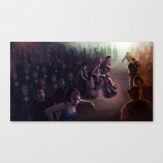 The Vigil: Brooklyn in Flames Canvas Print