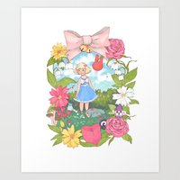 animal crossing Art Prints featuring Animal Crossing by Julia Marshall