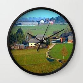 Beautiful traditional farmland scenery II   landscape photography Wall Clock