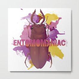 ENTOMOMANIAC: Stag Beetle Metal Print