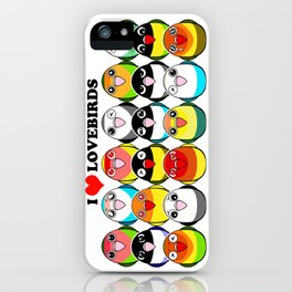 Lovebird colour mutations iPhone Case