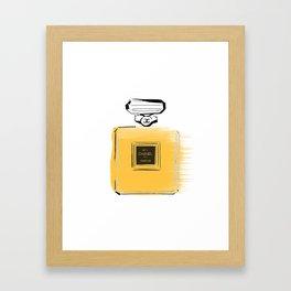 Orange perfume #4 Framed Art Print