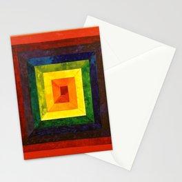 Rainbow Spiral I Stationery Cards