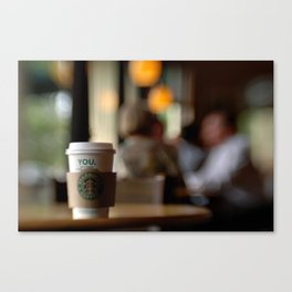 Starbucks Coffee Cup Canvas Print