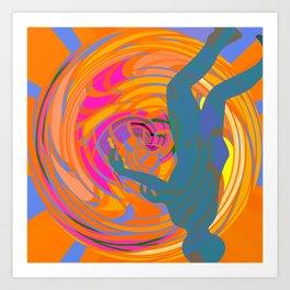 Head Down in The Tunnel Art Print