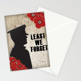 Least we forget Stationery Cards