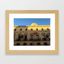 Historical Building on Menorca Framed Art Print