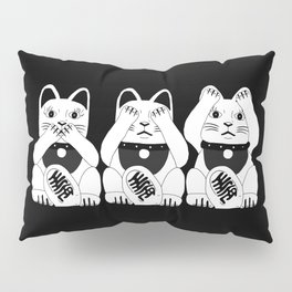 Three Smart Cats Pillow Sham