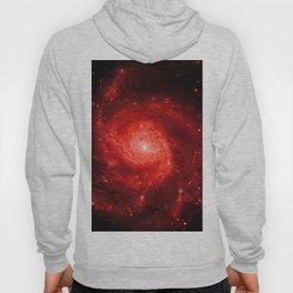 Pinwheel Galaxy Deep Red Hoody