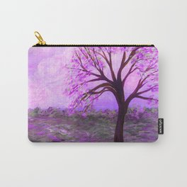 One Purple Tree Abstract Landscape Carry-All Pouch