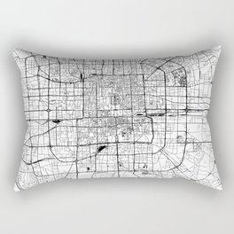 Beijing White Map Rectangular Pillow